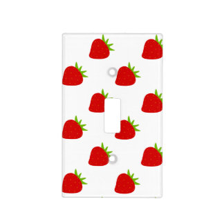 Cute Strawberry Pattern Nursery Light Switch Cover