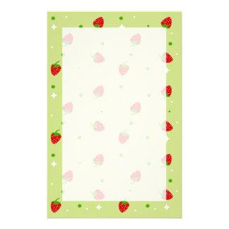 Cute Strawberry pattern stationery