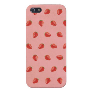 Cute Strawberry Pictures Pattern iPhone 5/5S Cases