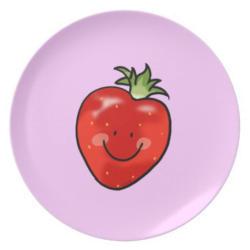 Cute strawberry dinner plates