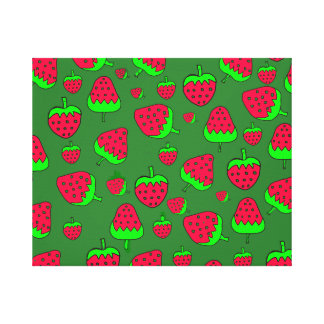 Cute Strawberry Stretched Canvas Print