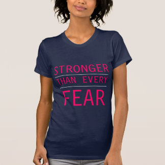 Cute Stronger Than Any Fear Fitted Racerback Tank