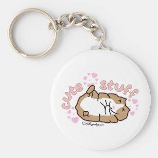 Cute Stuff Basic Round Button Keychain