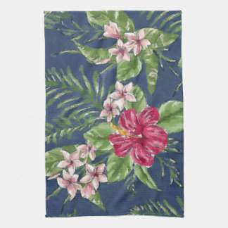 Cute Stylish Colors Tropical Hawaii Floral Pattern Kitchen Towel