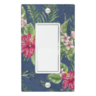 Cute Stylish Colors Tropical Hawaii Floral Pattern Light Switch Cover