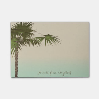 Cute Stylish Tropical, Palm Tree,Personalized Post-it Notes