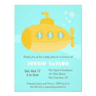 Cute Submarine Underwater Baby Shower Invitations