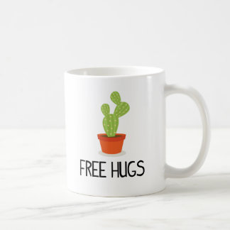 Cute succulent cactus free hugs coffee mug