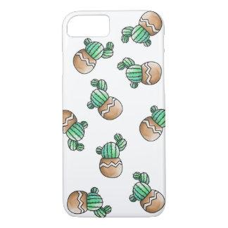 Cute Succulent Cactus Pattern Illustration Case-Mate iPhone Case