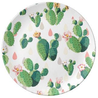 Cute Succulent Lovely Cactus Decorative Plate