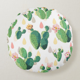 Cute Succulent Lovely Cactus Rounded Pillow