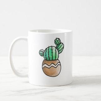 Cute Succulent Pot Rustic Illustration Coffee Mug