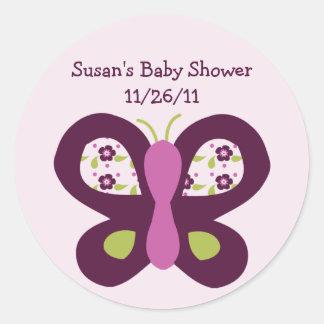 Cute Sugar Plum Butterfly Stickers/Envelope Seals