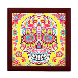 Cute Sugar Skull Gift Box - Day of the Dead