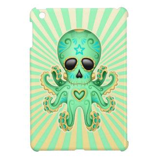 Cute Sugar Skull Zombie Octopus - Green iPad Mini Covers