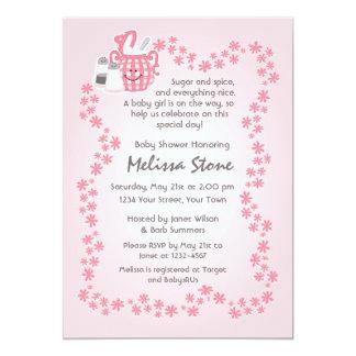 Cute Sugar & Spice Baby Shower Invitation