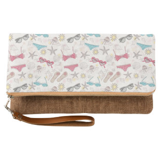 Cute Summer Abstract Pattern Clutch