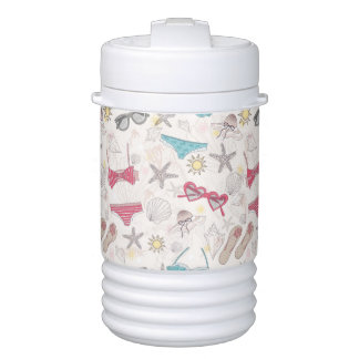 Cute Summer Abstract Pattern Drinks Cooler