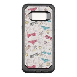 Cute Summer Abstract Pattern OtterBox Commuter Samsung Galaxy S8 Case