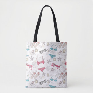 Cute Summer Abstract Pattern Tote Bag