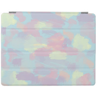 cute summer colorful pastel brushstrokes pattern iPad smart cover