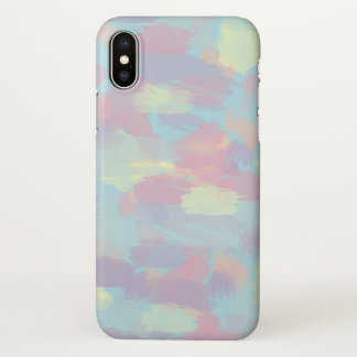 cute summer colorful pastel brushstrokes pattern iPhone x case