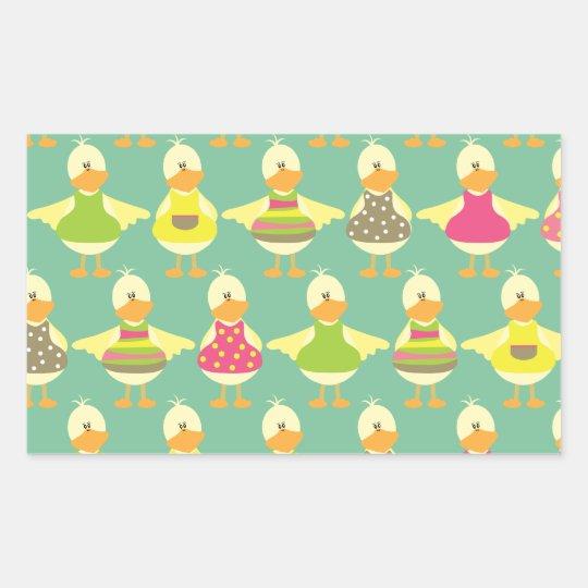 cute summer ducks sticker