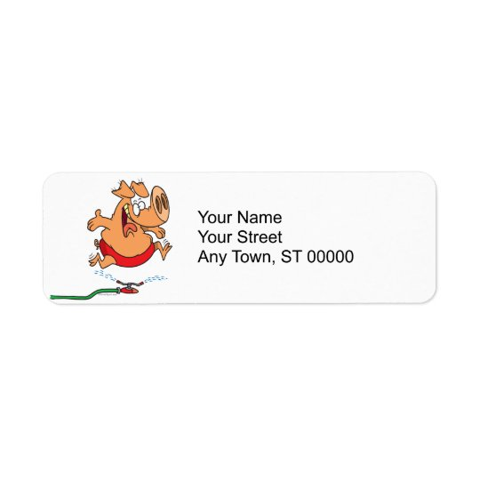cute summer sprinkler piggy pig return address label