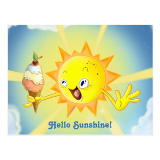 Cute Summer Sun Kawaii Postcard