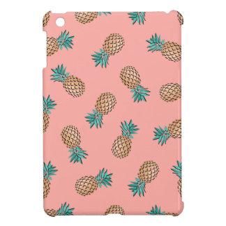 cute summer tropical faux gold pineapple pattern iPad mini case