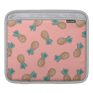 cute summer tropical faux gold pineapple pattern iPad sleeve