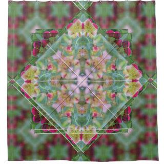 Cute Summertime Floral Art Deco Shower Curtain