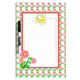 Cute Sun and Flower Dry Erase Board-Customizable Dry Erase Boards