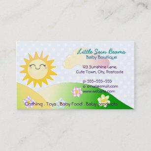Kawaii business cards profile cards zazzle ca cute sun kawaii cartoon business card colourmoves