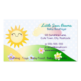 Cute sun kawaii cartoon pack of standard business cards