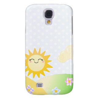 Cute sun kawaii cartoon samsung galaxy s4 cover
