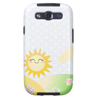 Cute sun kawaii cartoon galaxy SIII case