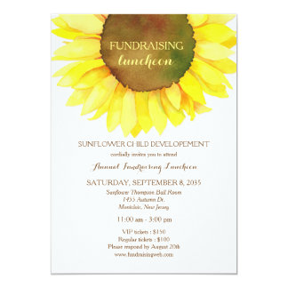Cute Sunflower Fundraising Luncheon Invitation