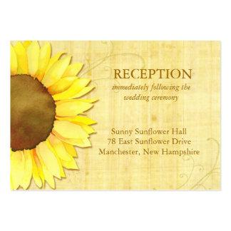 Cute Sunflower Wedding Reception Insert (3.5x2.5) Business Cards