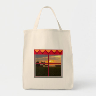 Cute Sunset on the Farm Grocery Tote