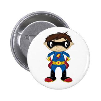 Cute Superhero Boy 2 Inch Round Button