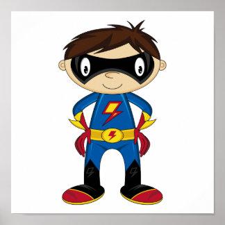 Cute Superhero Boy Print