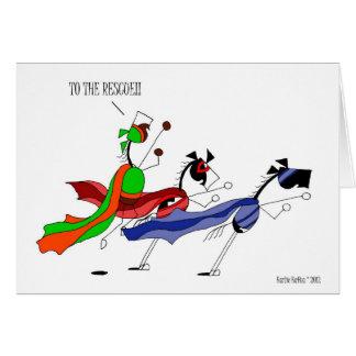 Cute Superhero Horse Cartoon Card
