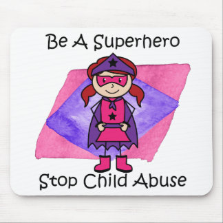 Cute Superhero Mouse Pad