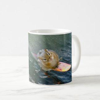 Cute Surfing Chipmunk Coffee Mug