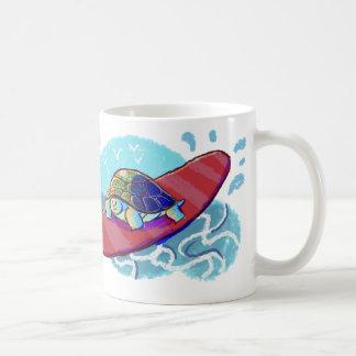 Cute Surfing Turtle Coffee Mug