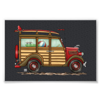Cute Surfing Woody Photo Print