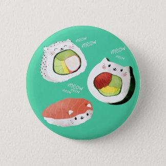Cute Sushi Cat 2 Inch Round Button