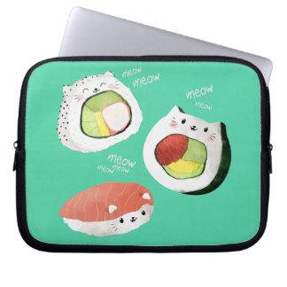 Cute Sushi Cat Laptop Computer Sleeve
