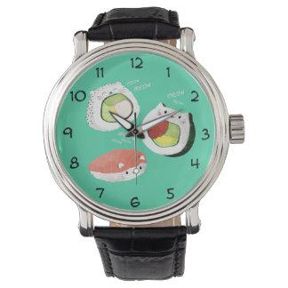 Cute Sushi Cat Wristwatches